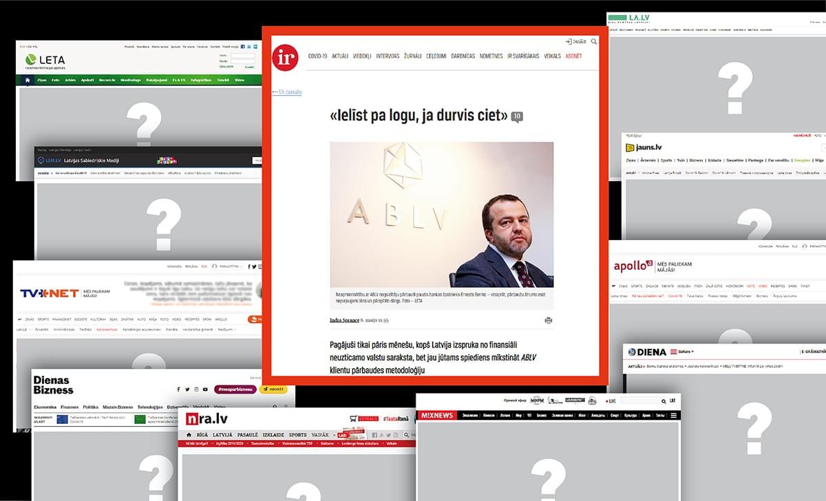 Ziņa par ABLV Bank metodoloģijas efektivizēšanu žurnālā IR