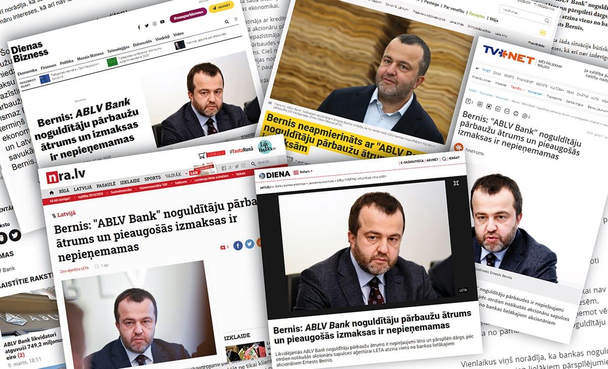 Ziņa atspoguļota visos lielākajos Latvijas elektroniskajos medijos.